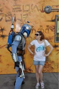 Jango Fett did not seem impressed by my winning smile.