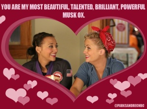I love you all like Leslie loves Ann.